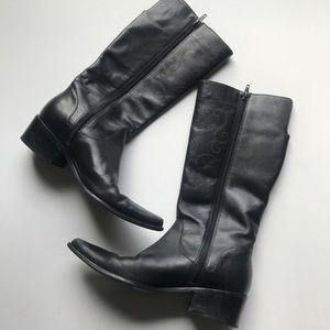 Matisse Shoes - Matisse Tall Leather Print Boot Heeled Mid Calf